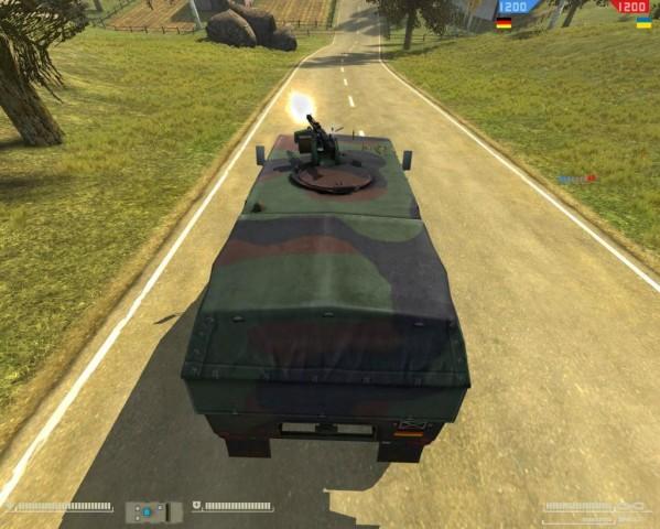 Das MG3 feuert automatisch...