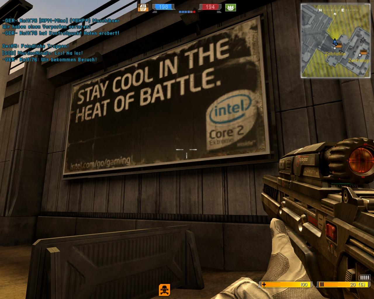 """BF2142 Ingame-Werbung Intel, """"geknipst"""" von Pascal"""