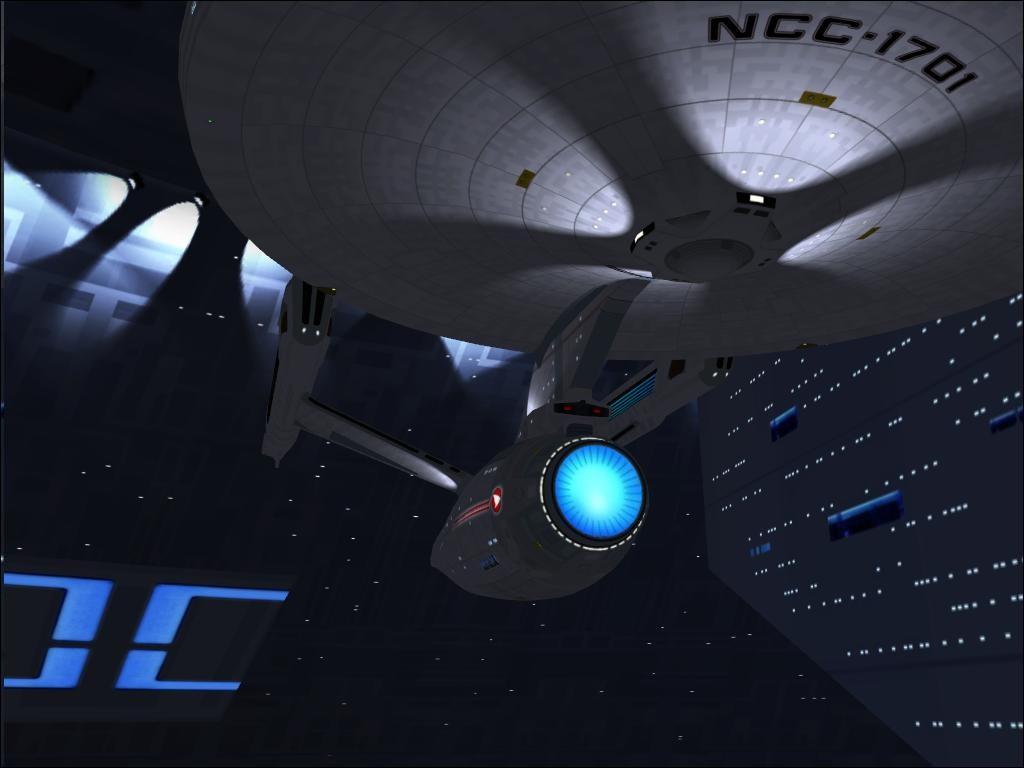 USS Enterprise im Spcacedock
