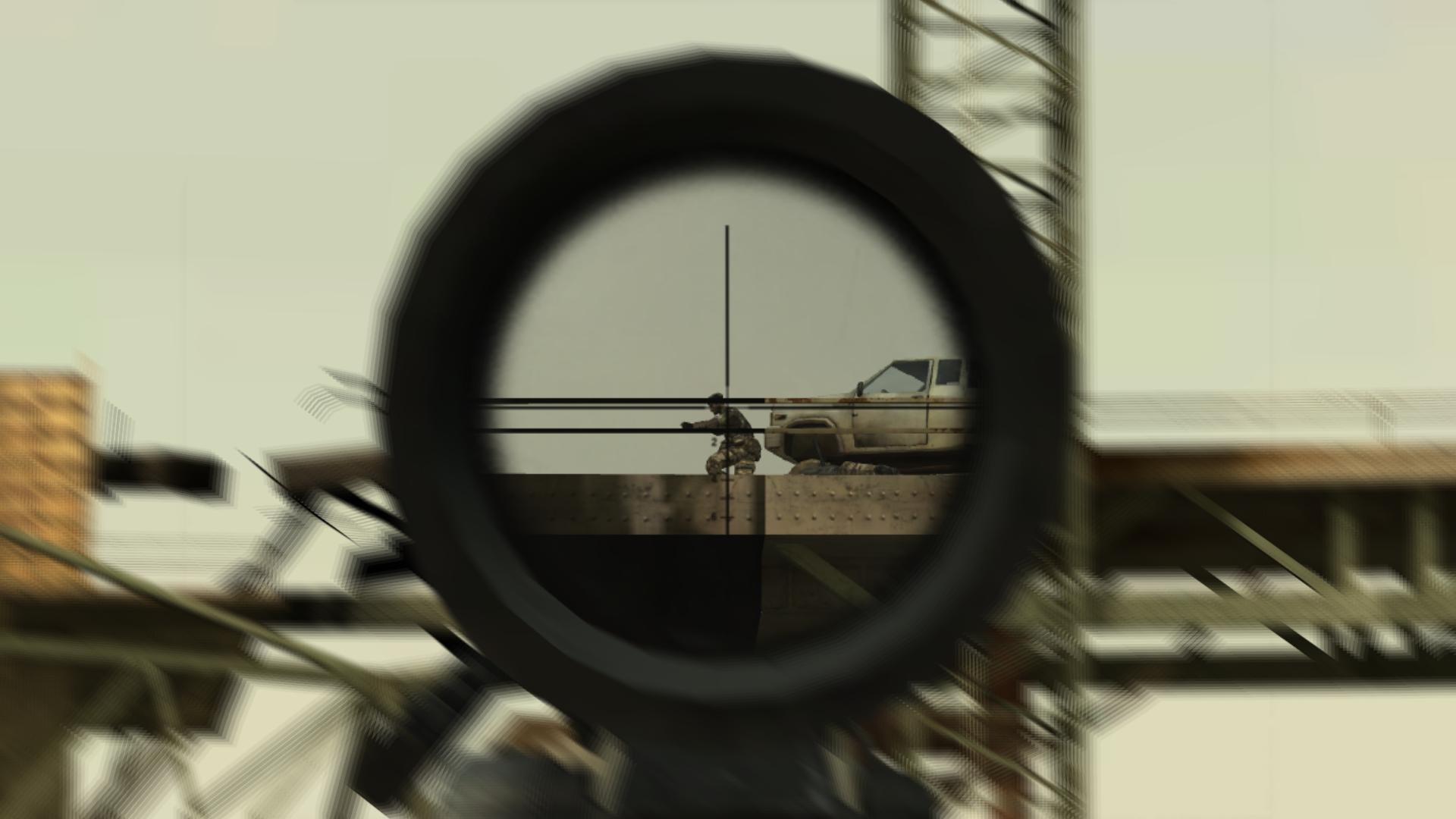 M82A1 Barret Zielfernrohr und Zoomshader
