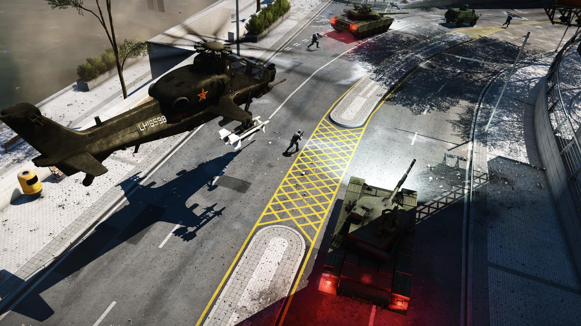 Chinesiche Panzer und Heli