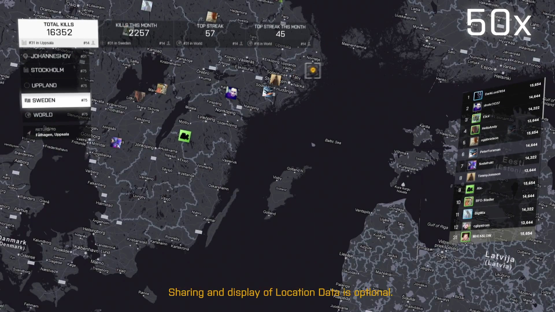 Battlefield 4 - Geo Leaderboard